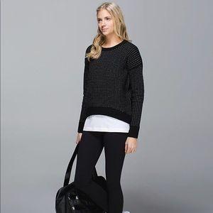 Lululemon Yogi Crew Sweater Hearts Zips Sz6